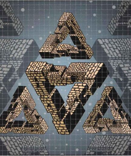 Mike DuBois Triangle Pyramid Blotter Art