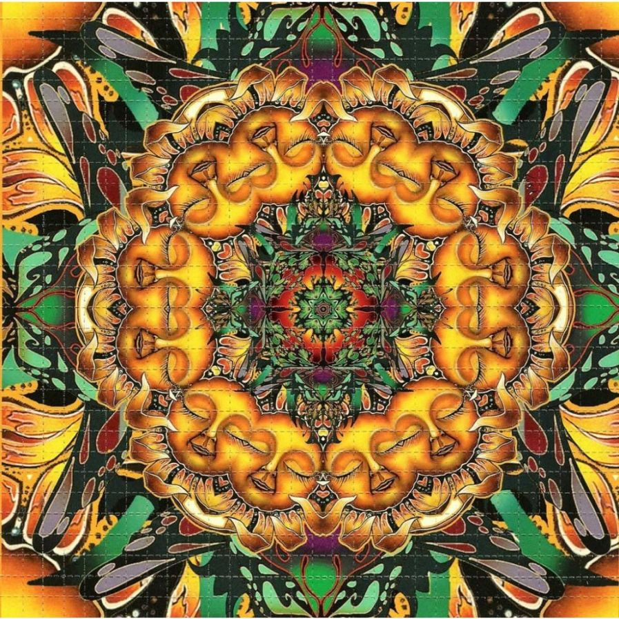Sleeping Sunflower Blotter Art