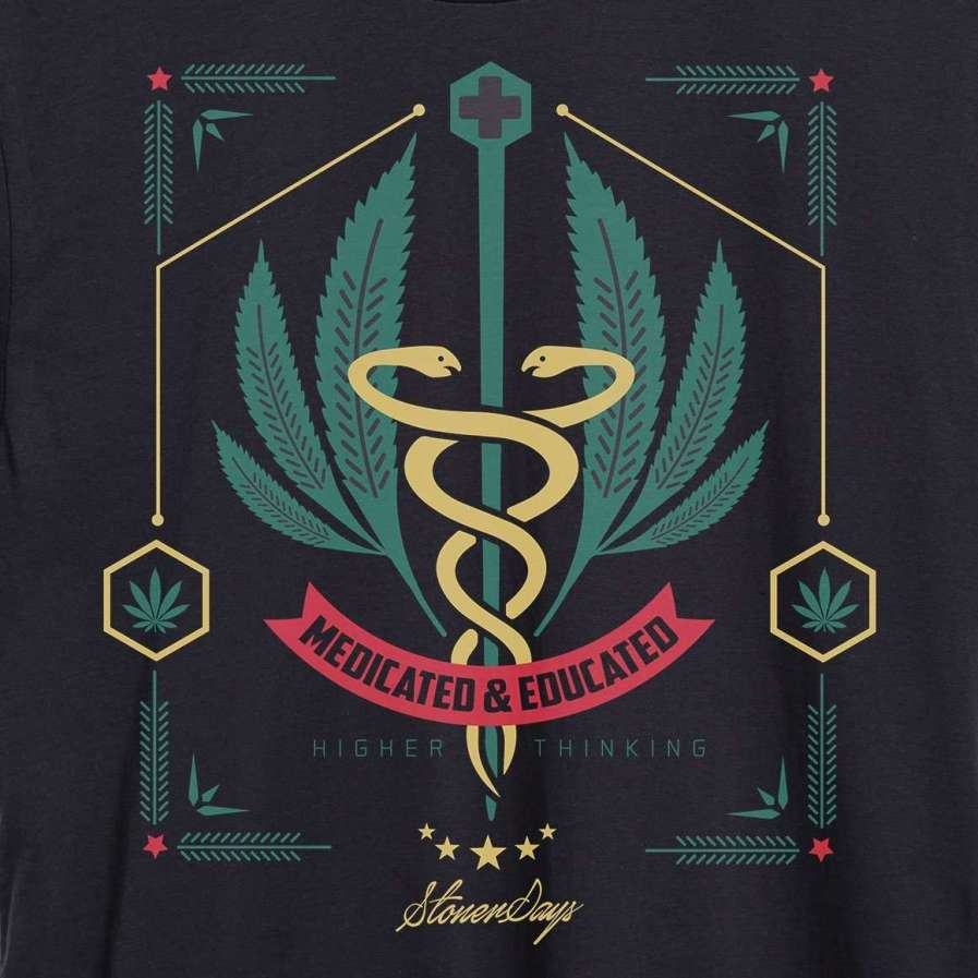 MENS MEDICATED AND EDUCATED TANK