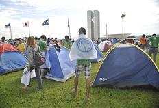 UNE inicia movimento Ocupe Brasília com acampamento na Esplanada dos Ministérios Antônio Cruz/Agência Brasil