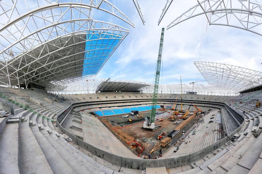 Arena atinge 92% de conclusão: estrutura da cobertura estará pronta em 15 dias Omar Freitas/Agencia RBS