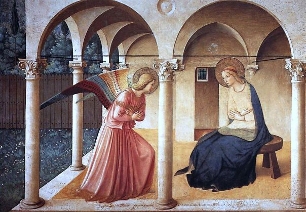 Fra Angelico; Beato Angelico Annunciazione, annunciation San Marco Museum, Florence
