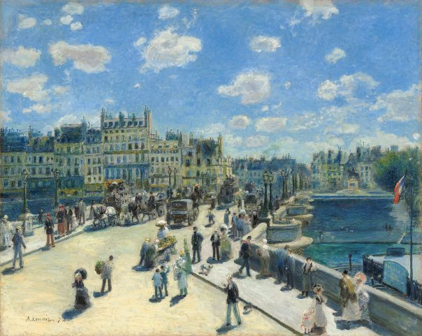 Le Pont-Neuf, 1872, Pierre-Auguste Renoir. National Gallery of Art