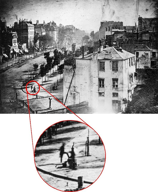 The first photo of a human being
