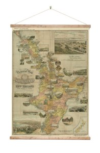 9833_North_Island_Vintage_Wall_Map_on_Canvas