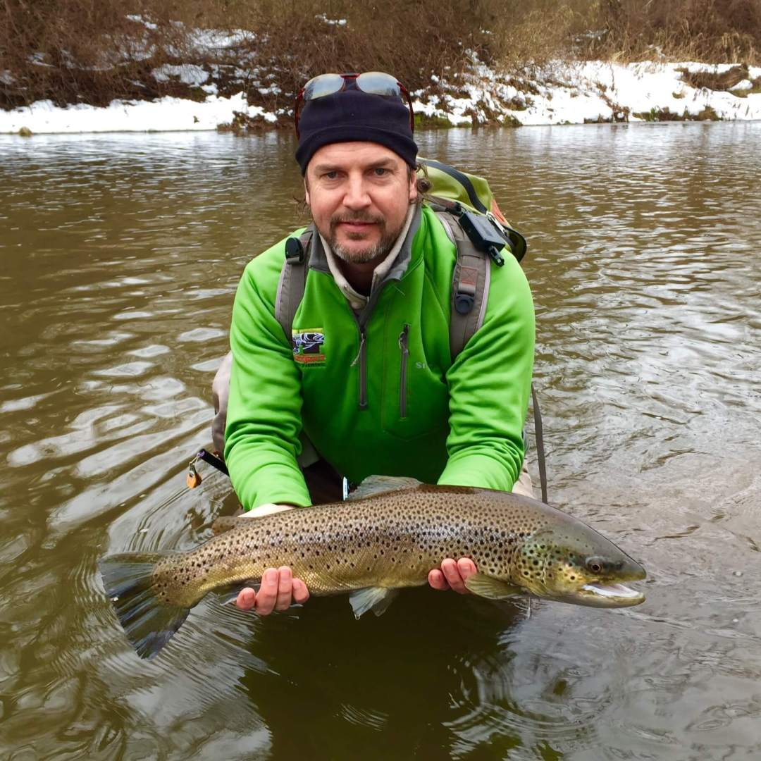 Zero Limit Adventures Winter Fly Fishing Brown Trout