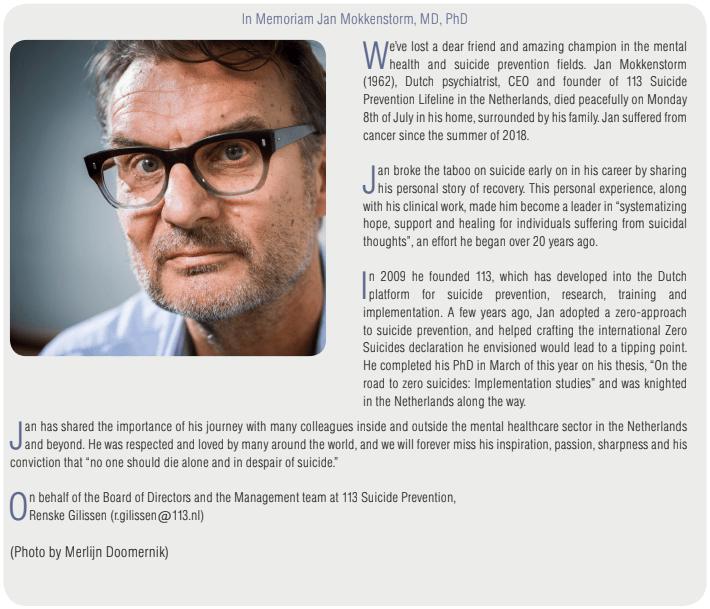 In Memoriam Jan Mokkenstrom, MD, PhD