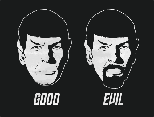 Good Spock. Evil Spock.