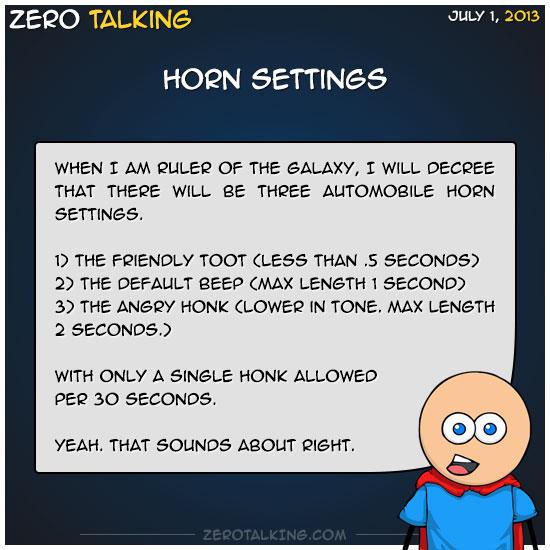 horn-settings-zero-dean