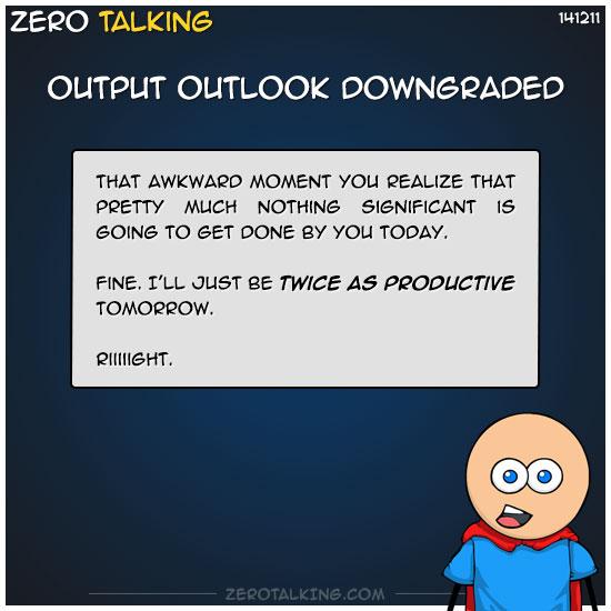 output-outlook-downgraded-zero-dean