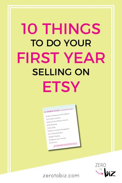 What to do as a new Etsy seller to get more sales and grow your business!