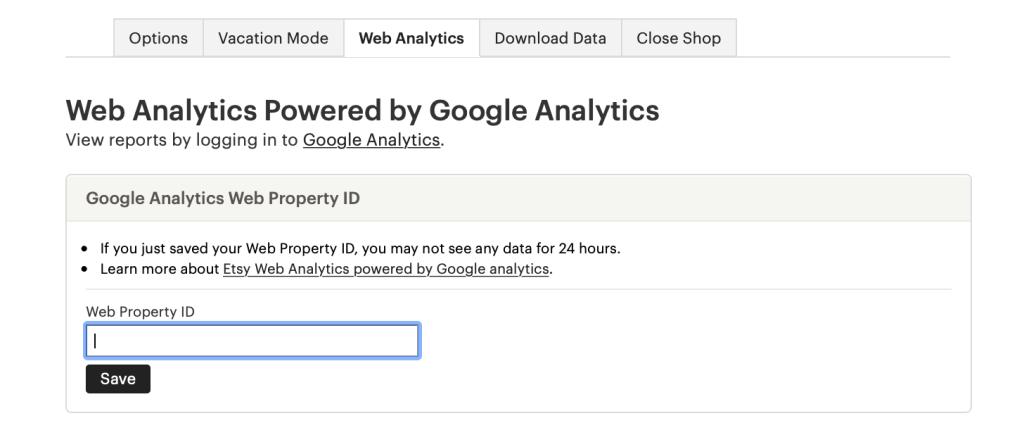 Analytics for Etsy
