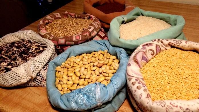 bulk grains and legumes