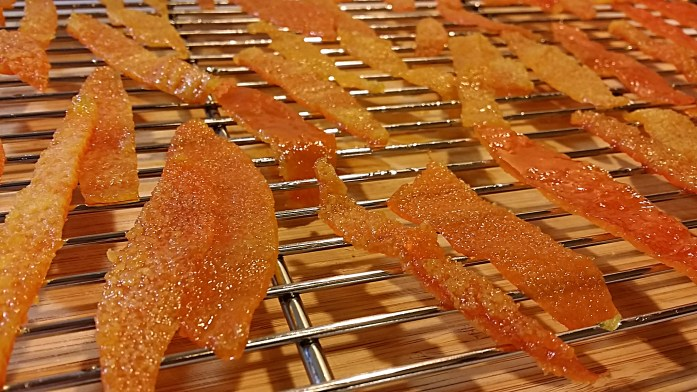 drying candied peels