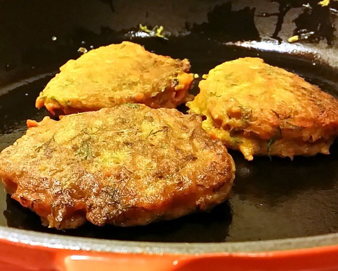 carrot and dill fritters