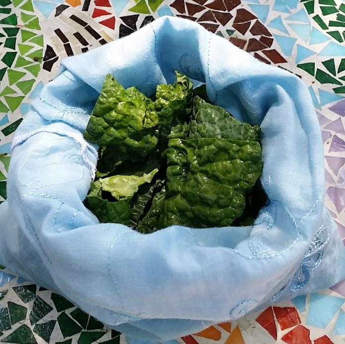 prepped kale