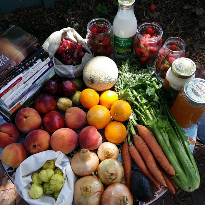 books and fresh food