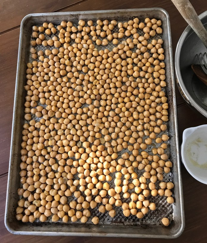 chickpeas ready to roast