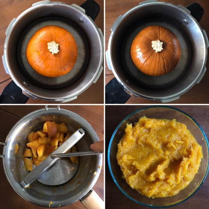fresh pumpkin purée