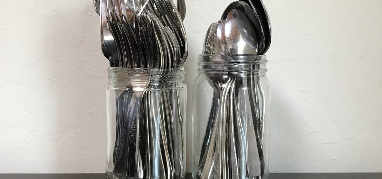 jars of utensils