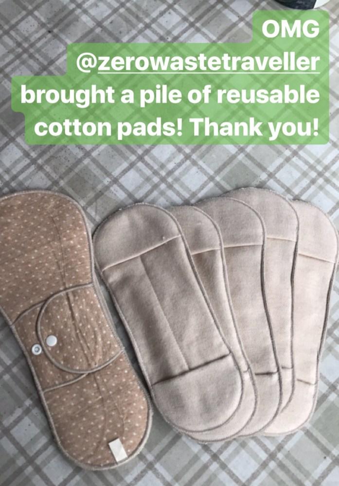 reusable organic cotton menstrual pads