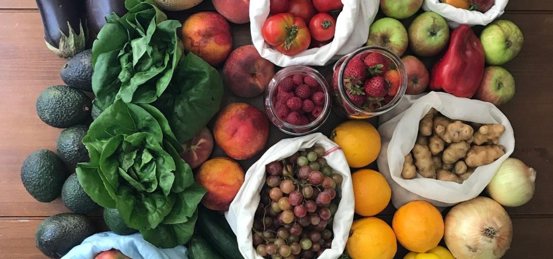 zero waste farmers market produce
