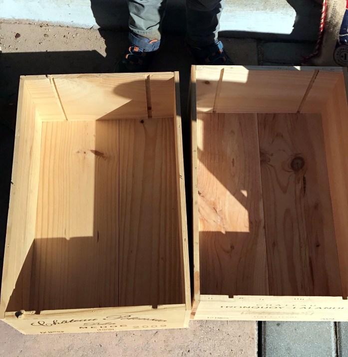 upcycled wine crates