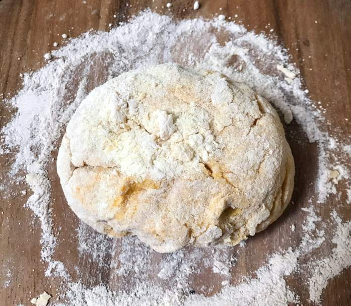 turn out dough to knead