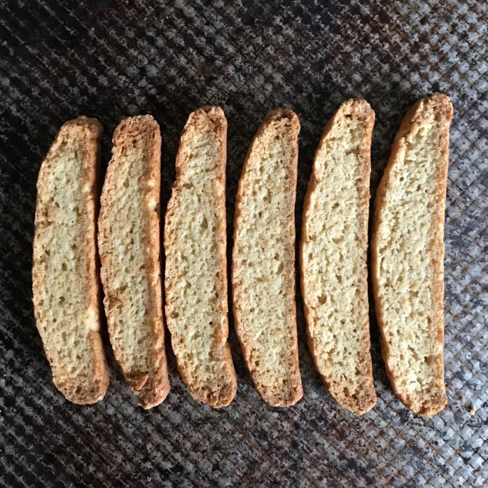 Biscotti made with okara or soybean pulp