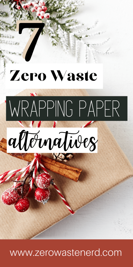 zero waste wrapping paper alternatives