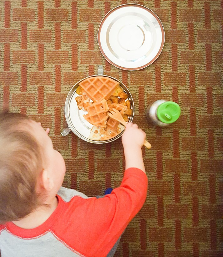 Zero Waste waffles at the hotel