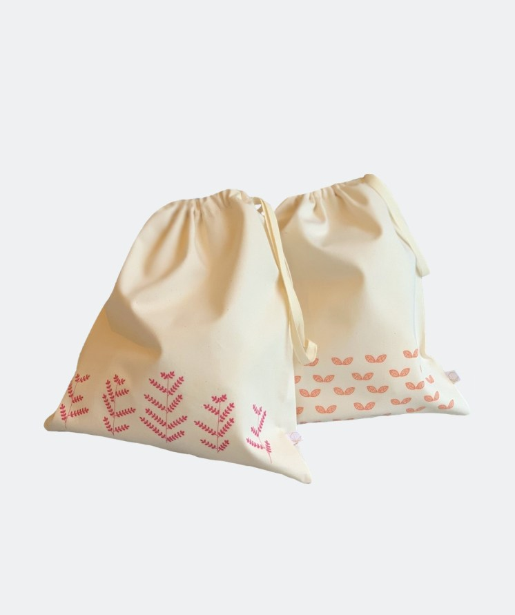 Organic Cotton Travel/Produce Bags - Zero Waste Nest