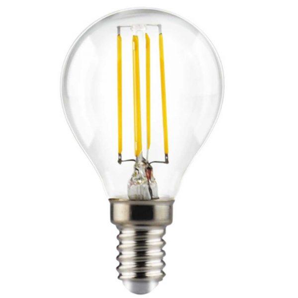 Dimbar LED-ljuskälla E14 Filament, 4W, 470lm