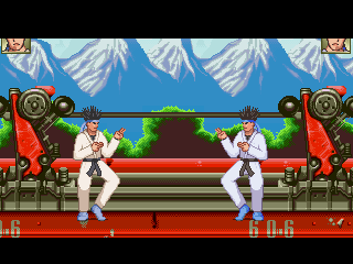 Ranma 1/2 Train stage Mugen SNES
