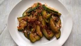 Korean cucumber salad with a spicy dressing (Oi muchim)