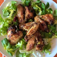 Yuzu glazed chicken wings