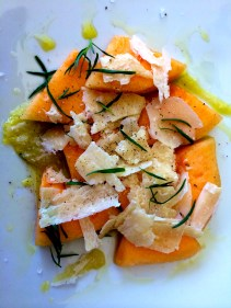 Fresh Melon and Parm Salad