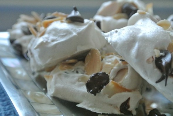 Coconut White Chocolate Meringues