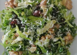 Tossed Kale Brussels Salad