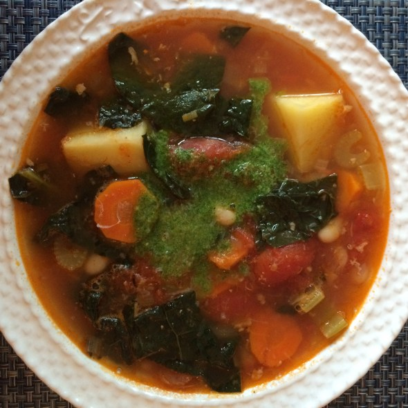 Summer Chunky Minestrone Soup