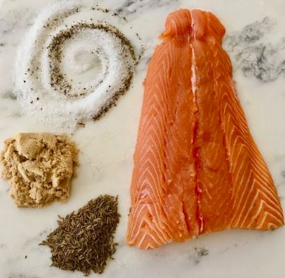 Cured Caraway Salmon