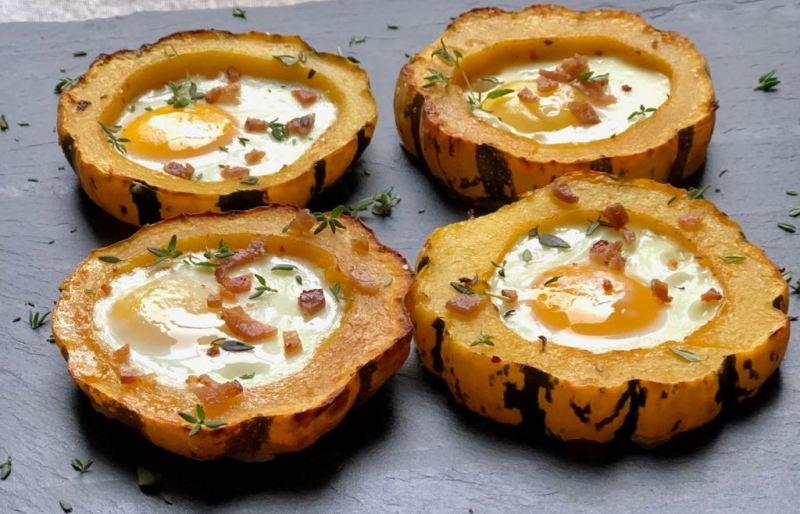 Roasted Squash w/eggs