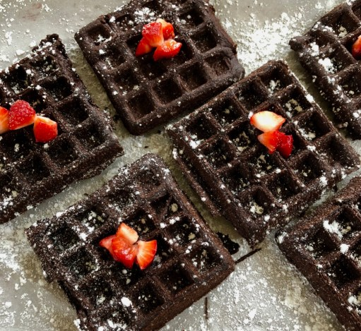 Chocolate Buckwheat Waffles