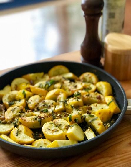Sauteed Yellow Zucchini
