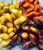 Tri colored cut carrots