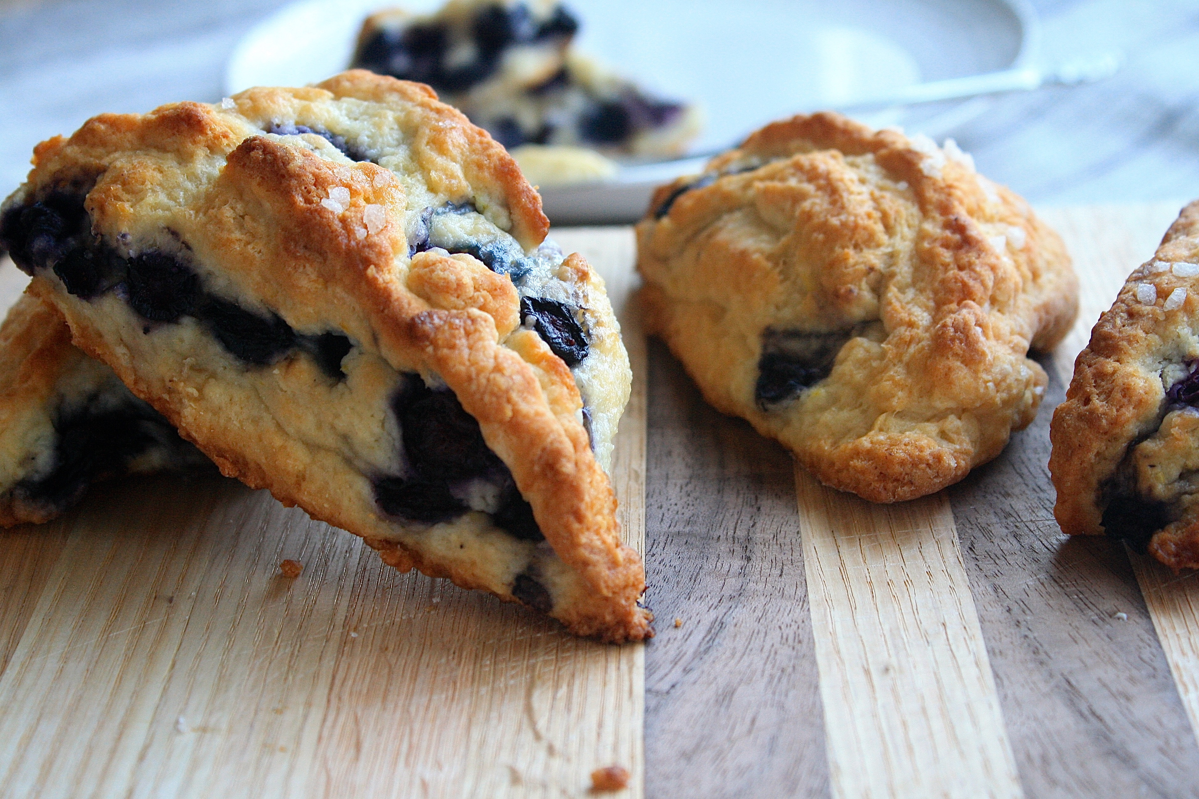 Reduced Fat Blueberry Scones | Zestful Kitchen