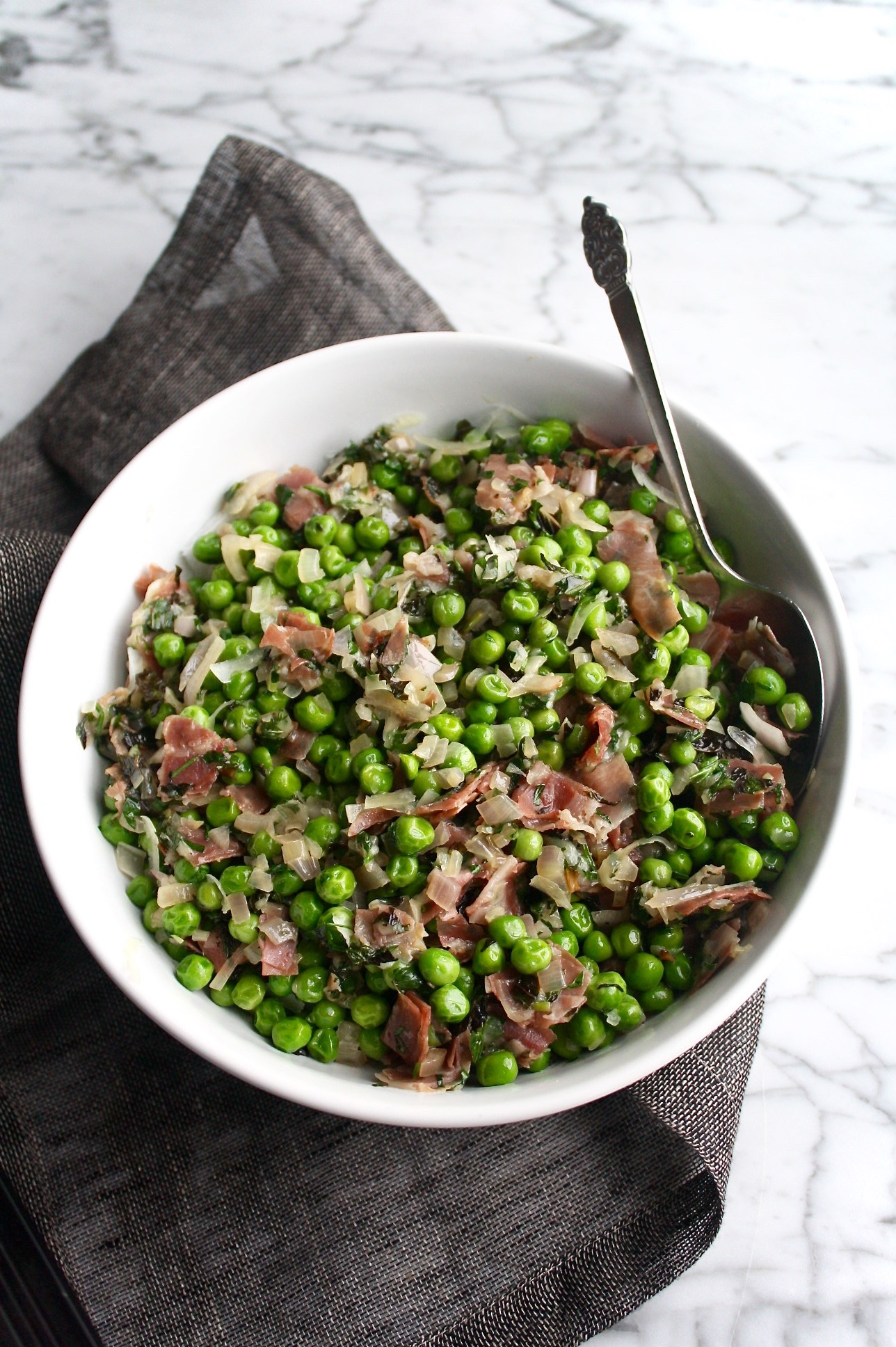 Peas, Prosciutto & Pinot | Zestful Kitchen