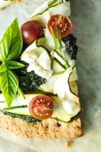Gluten Free Green Goddess Pizza | Zestful Kitchen