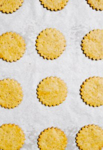 Photograph of pumpkin cookies on a cooling rack