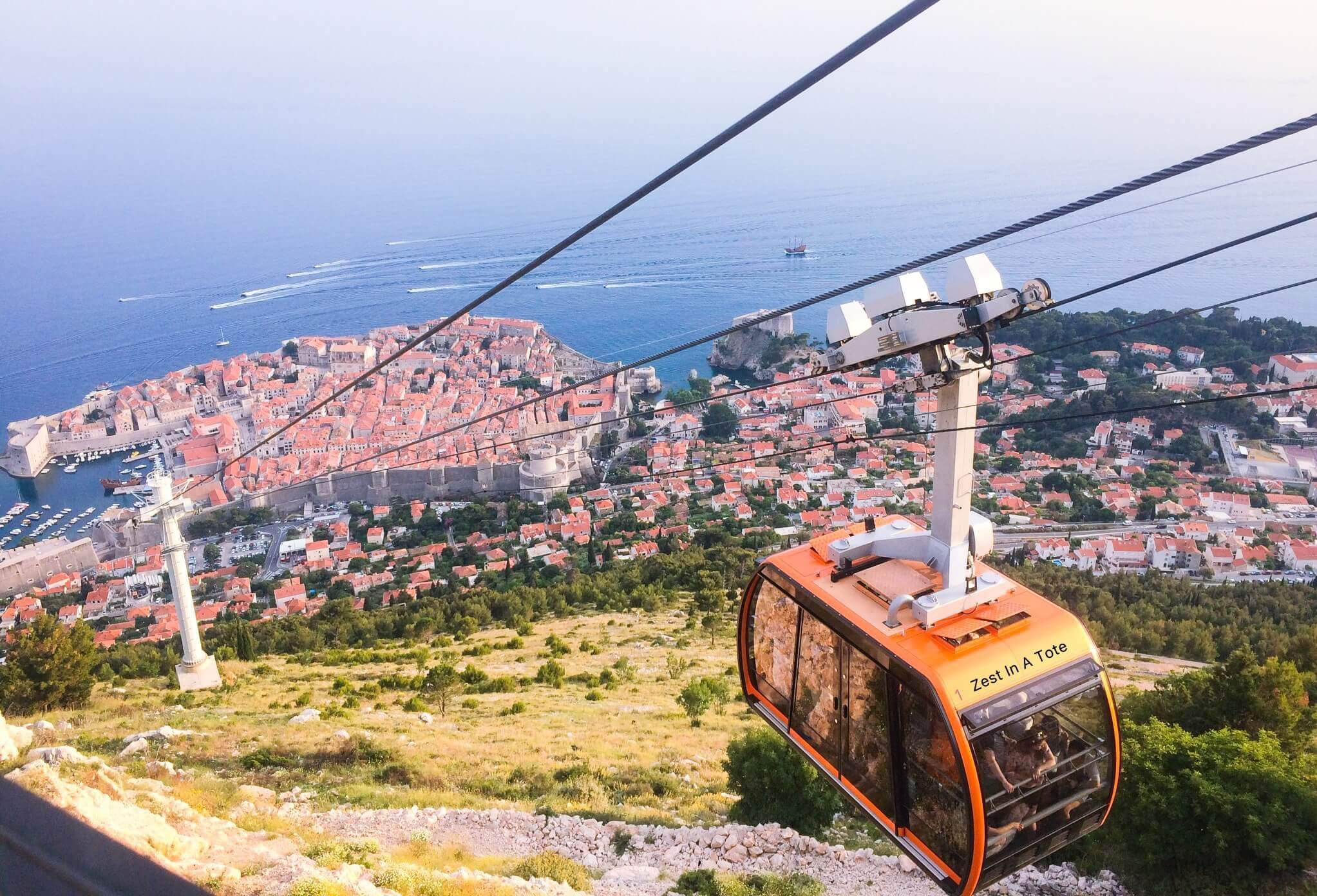 Cable car up the Srd hill, Dubrovnik